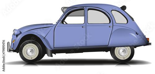 фотография Voiture Vintage bleu Version 2 fenetre ouverte