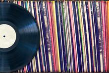 Vinyl Record With Copy Space, Vintage Process
