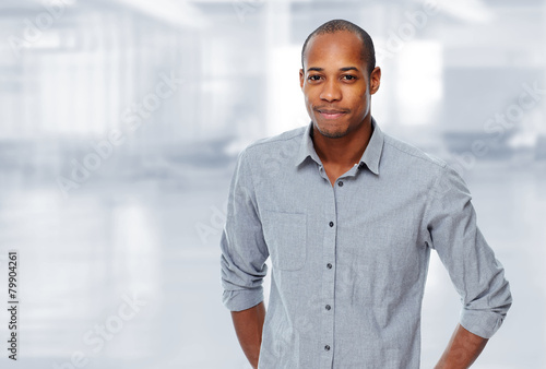 Afro american man portrait.