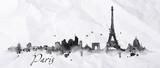 Fototapeta Fototapety Paryż - Silhouette ink Paris