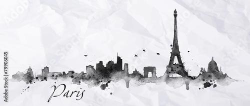 Fototapeta Silhouette ink Paris obraz