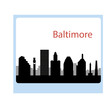 Baltimore USA city skyline silhouette vector illustration