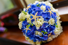Bridal Bouquet In Blue And Whi...