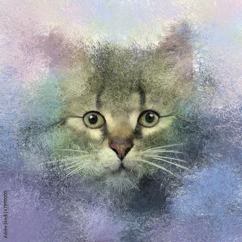 abstrakcjonistyczny-portret-kota-obraz-olejny