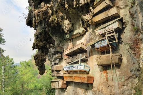 Foto op Canvas Begraafplaats Hanging Coffins of Sagada, Philippines