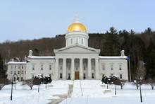 Vermont State House In Winter, Montpelier, Vermont
