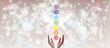 canvas print picture - Healing Hands - The Seven Chakras