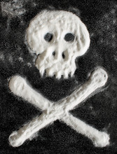 Scull With Crossed Bones Made Of Sugar.
