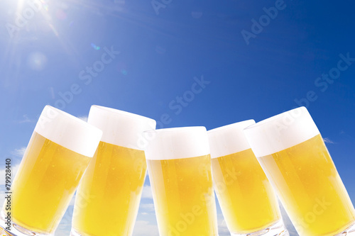 Fotografía  青空とビール