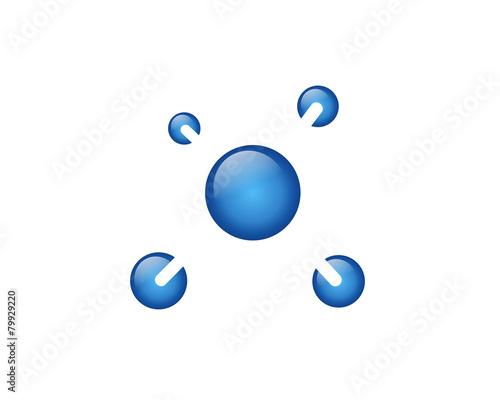 Foto Molecule, atom, microbial, etc
