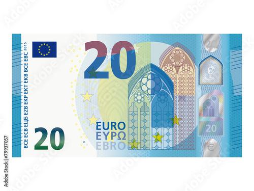 Fotografía Neuer 20 Euro Schein ab November 2015 Vektor