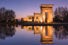 Temple Of Debod At Night, Madrid (Spain)