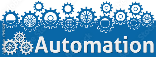 Photo Automation Text With Gears On Top