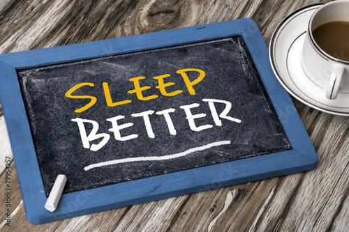 Fotografering sleep better concept