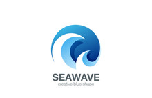 Water Wave Logo Design Vector. Creative Abstract Circle