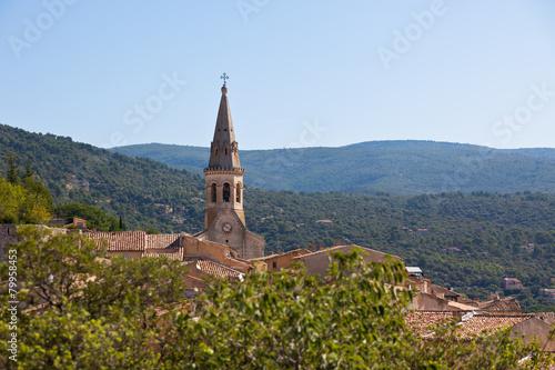 View of Saint Saturnin d Apt, Provence, France Canvas Print