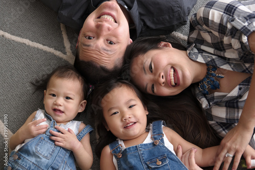 Fotografie, Obraz  Asian family smiling and laughing