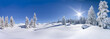Leinwanddruck Bild - Winterpanorama