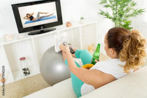 Obraz Exercise Or Not - fototapety do salonu