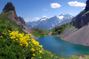Fototapeta Góry Le Grand Lac - Massif des Cerces
