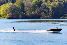 Boat With Water Skier