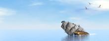 Pirate Ship Sinking - 3D Render