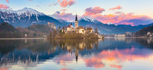 Bled In Sunset, Slovenia, Euro...
