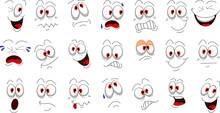 Cartoon Face Emotions Set For You Design