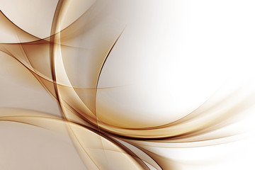 Panel Szklany Dym Elegant Gold Waves