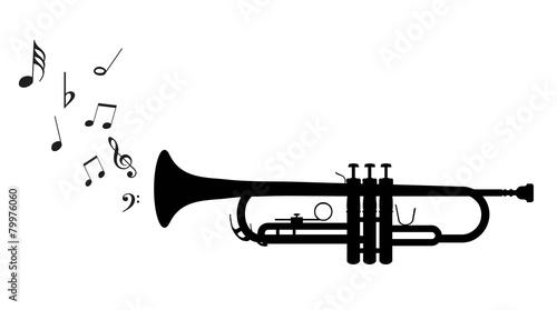 Canvas Print Trumpet