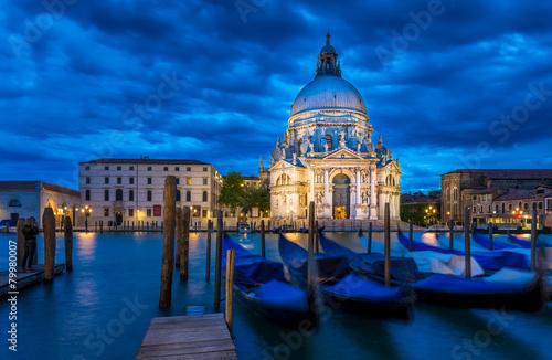 Poster Venise Canal Grande and Basilica di Santa Maria della Salute, Venice