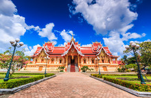 Ancient Temple In Vientiane Of...