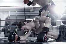 Boxer Knocking Out His Opponent