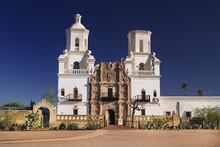 USA, Arizona, Tucson, View Of Mission Church San Xavier Del Bac