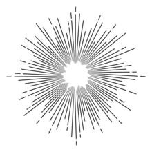Vintage Monochrome Star Burst
