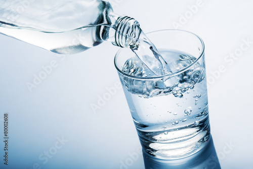 Photo sur Aluminium Eau water glass