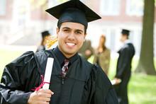 Graduation: Hispanic Student Happy To Graduate