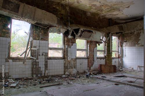 Foto op Aluminium Rudnes Old abandoned ruin