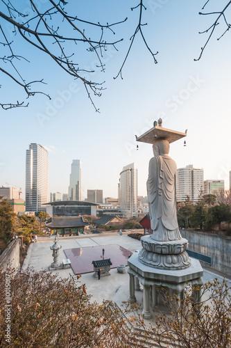 Keuken foto achterwand Seoel Bongeunsa temple, Seoul, Korea