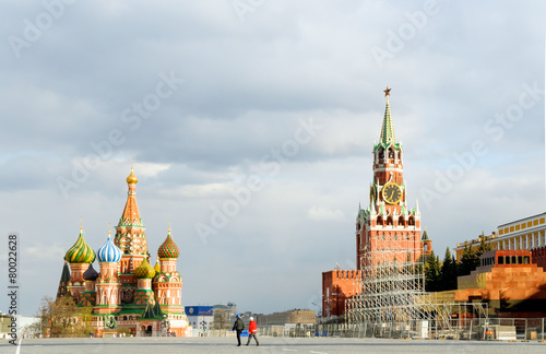 Wall Murals Moscow Red square in Moscow, Russia