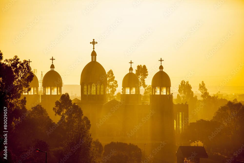 Fototapety, obrazy: Ethiopian orthodox church at dawn