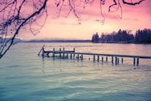 Jetty Starnberg Lake