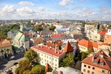 Fototapeta Miasto - Miasto Lublin, widok z lotu ptaka