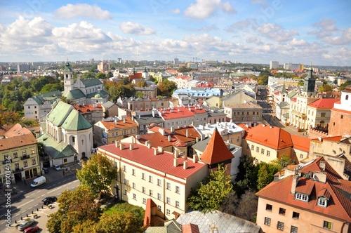 Miasto Lublin, widok z lotu ptaka © milena1990