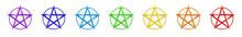 Chakrafarben Pentagramme