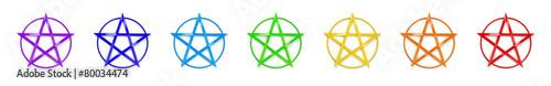 Photo  Chakrafarben Pentagramme
