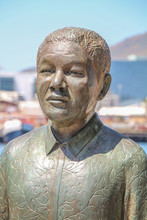 Southafrica - Nelson Mandela Statue In Capetown