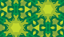 Green Snowflake Background