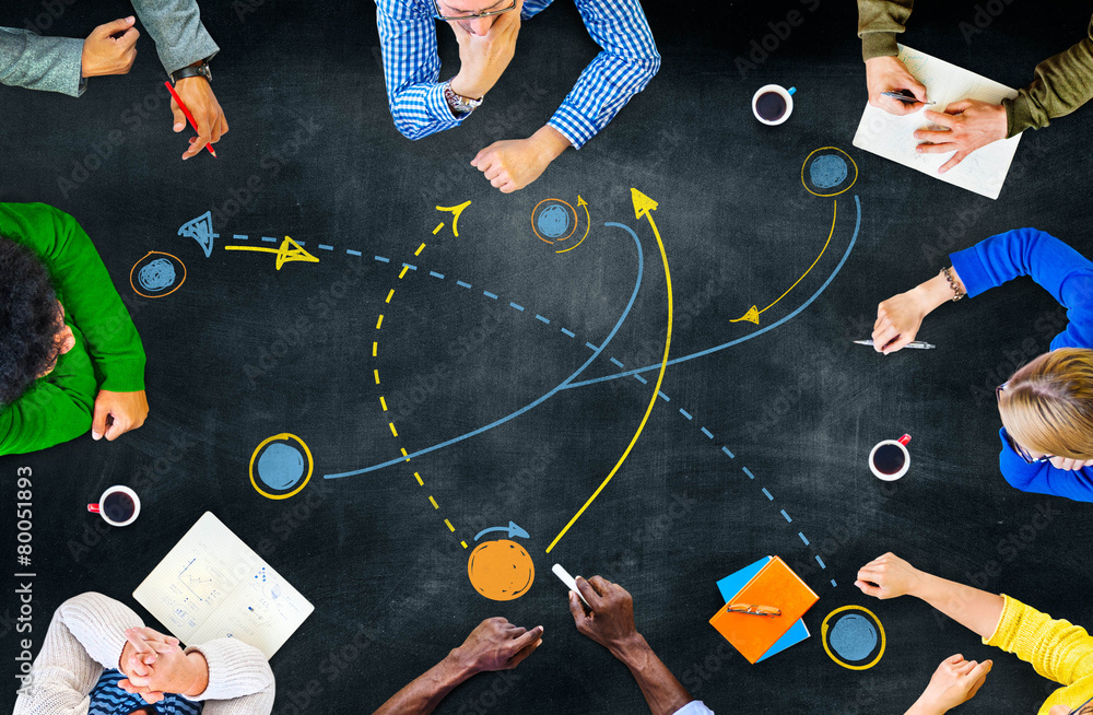 Fototapety, obrazy: Planning Strategy Thinking Tactic Step Shortcut Concept