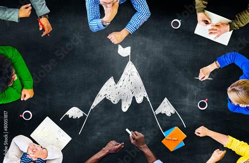 Goal Target Success Aspiration Aim Conquering Concept Wallpaper Mural